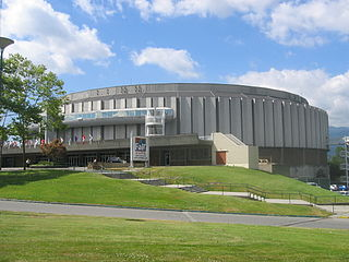 Pacific Coliseum indoor arena in Vancouver, Canada, mainly used for ice hockey