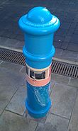 Painted Bollard, Winchester 01