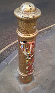 Painted Bollard, Winchester 03
