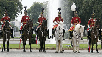 President of Pakistan - The Ceremonial guard of honour at the Aiwan-e-sadr.