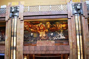 Palacio de Bellas Artes - Mural La Nueva Democracia Siqueiros 1