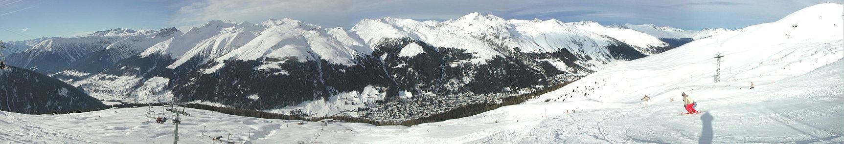 Panorama over Davos set fra Jakobshorn