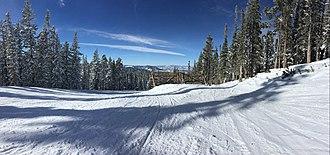 Winter Park Resort - A panorama taken on Whistlestop run at Winter Park Resort.