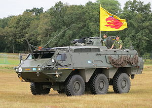 Patria Pasi - A Swedish XA-203 of ''South Scania Regiment (P7)'', Scania, Sweden.