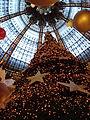 Paris Galeries Lafayette Haussmann cupola stained glass 2006 Chritmas 2.jpg
