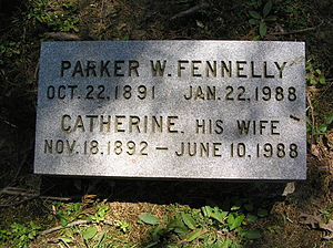Parker Fennelly - The gravesite of Parker W. Fennelly and his wife