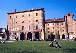 Piazza della Pace with the Farnese family's Palazzo della Pilotta.