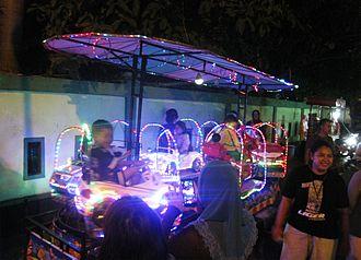 Pasar malam - Kiddy ride in a Pasar Malam in Jakarta