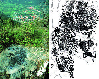 Cartography - Valcamonica rock art (I), Paspardo r. 29, topographic composition, 4th millennium BCE