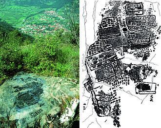 Cartography - Valcamonica rock art (I), Paspardo r. 29, topographic composition, 4th millennium BCE