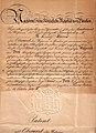 Patent Oberarzt der Reserve Dr. Rudolf Haus 18. Oktober 1901.jpg