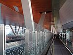 Pathway to arrivals at Hamad Airport, May 2014.jpg