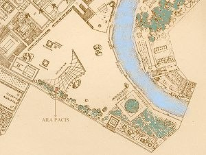 Ara Pacis - Map showing the original location of the Ara Pacis
