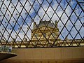 Pavillon Richelieu from the Hall Napoléon, Louvre 24 August 2006.jpg