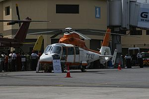 Pawan Hans - Pawan Hans owned Aerospatiale Dauphin Medical Reconnaissance helicopter on display