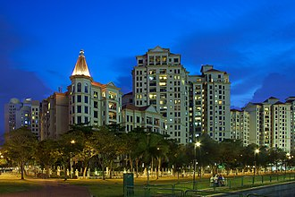 Kallang - Condominiums along Tanjong Rhu Road at dusk.