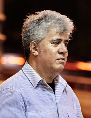 Spanish film director Pedro Almodóvar, walking...