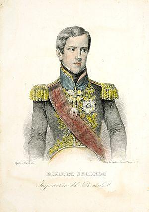 Consolidation of Pedro II of Brazil - Pedro II around age 16, c. 1842.
