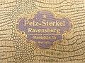 Pelz-Sterkel, Ravensburg (Aufschrift auf einem Karton).jpg