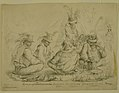 "Pencil Drawing, ""Indian Scouts in Gen. Lane's Camp"" by Alexander Simplot.jpg"