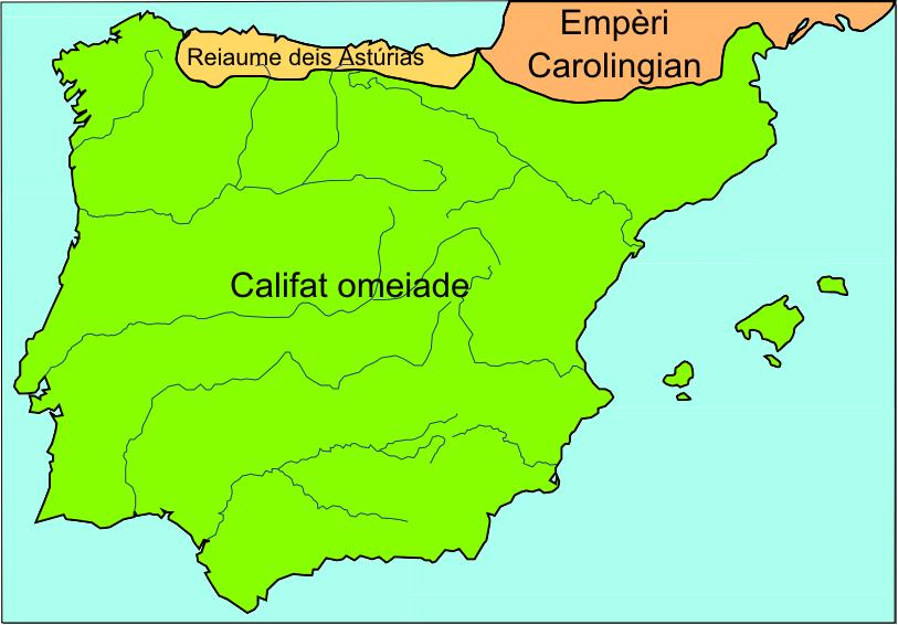 Peninsula Iberica vèrs 750