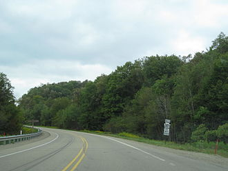 Pennsylvania Route 321 - PA 321 northbound between Wilcox and Kane