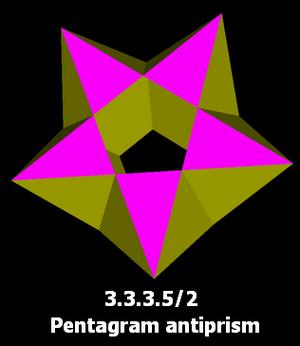 Pentagrammic antiprism - Image: Pentagram antiprism