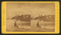People on the rocks and in a boat at Salem Neck, by J.W. & J.S. Moulton.png
