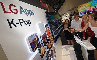 Korean Wave - K-pop songs being played by the South Korean conglomerate LG at the IFA trade exhibition in Germany in 2011