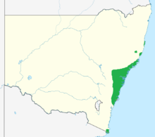 Persoonia levis range.png