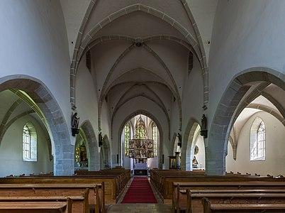 Interior of the subsidiary church Pesenbach, Upper Austria