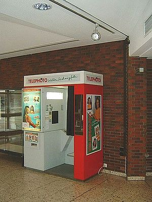 Photo booth - A photo booth in a public building in Germany