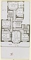 Photograph, Photograph of a Floor Plan of an Apartment Building Designed by Hector Guimard (No. 9), 1911 (CH 18387435).jpg