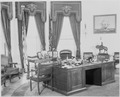 Photograph of President Truman's desk in the Oval Office of the White House. - NARA - 199468.tif