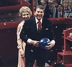 Photograph of The Reagans at the Republican National Convention, New Orleans, LA - NARA - 198594 (cropped).jpg