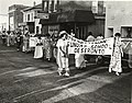 Photograph of members of the Presbyterian Sunday School in period dress, taking part in the Centennial Parade held in Deseronto, Ontario, on Thursday, 17th June, 1971. Taken on Main Street, in front (5036597945).jpg