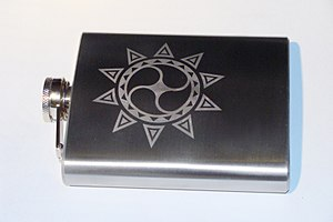 Hip flask - A decorated hip flask