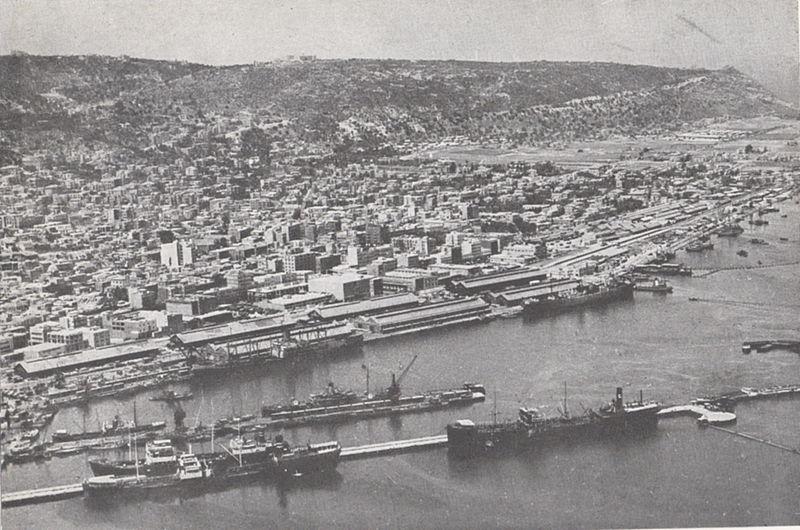 נמל חיפה והעיר התחתית