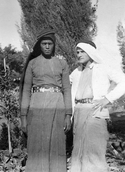 גן-שמואל-עם שכן ערבי 1941