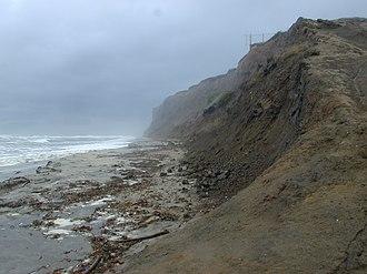 Mavericks, California - Mavericks is off the coast of Pillar Point (pictured).