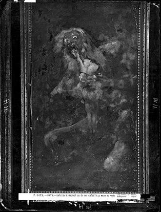 Quinta del Sordo - Image: Pinturas Negras de Goya, Saturno, foto de Laurent en 1874, VN 03194 P