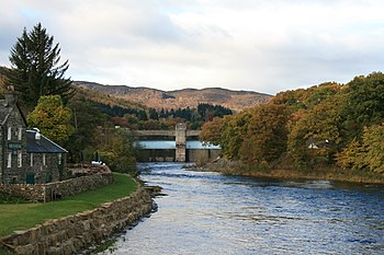 English: Pitlochry hydro-electric power statio...