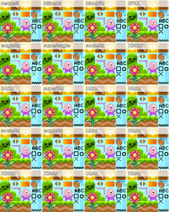 Pixel-art scaling algorithms - Comparison of common pixel-art scaling algorithms. View in full resolution to see the differences.