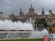 Plaça d'Espanya with fountains in front