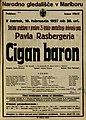 Plakat za predstavo Cigan baron v Narodnem gledališču v Mariboru 10. februarja 1927.jpg