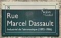 Plaque Rue Marcel Dassault - Noisy-le-Grand (FR93) - 2021-04-24 - 1.jpg