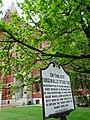 Plaque for George Washington's Headquarters - Cumberland - Maryland - USA (46905327775).jpg