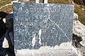 Plaque of summit cross of Monte Alom - Druogno, Val Vigezzo, VCO, Piedmont, Italy - 2020-10-29.jpg