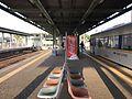 Platform of Imari Station (Matsuura Railway).jpg