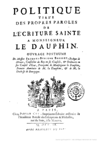 what did jacques benigne bossuet write about absolutism dbq